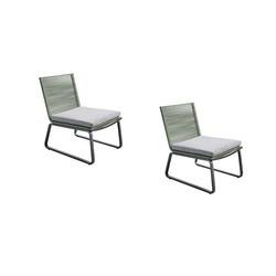 lounge dining stoelen yoi kome groen-grijs-2x/