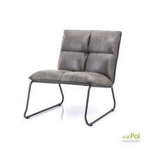 Eleonora fauteuil Ruby antraciet