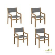 Apple Bee tuinstoelen Del Mar Dining 4x