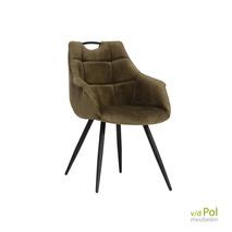 Ayla velvet stoel met armleuning | 3 kleuren