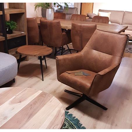 bronco-bull-leren-fauteuil-bruin-draaibaar