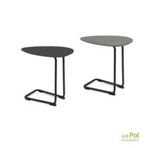 Twinny bank tafels set zwart - lichtgrijs