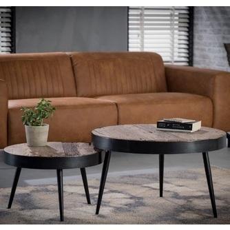 set-salontafels-rond-tapse poot-metaal-robuust-hardhout