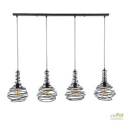 hanglamp-kegel-metaal-spin-vier-kappen