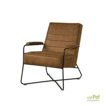 Jack - fauteuil zwart metalen draad frame
