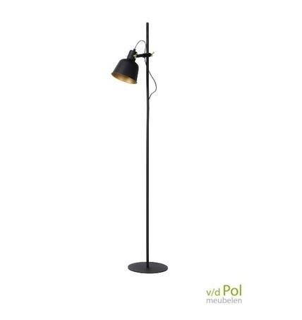 vloerlamp-kap-zwart-mat-goud-vintage-lamp