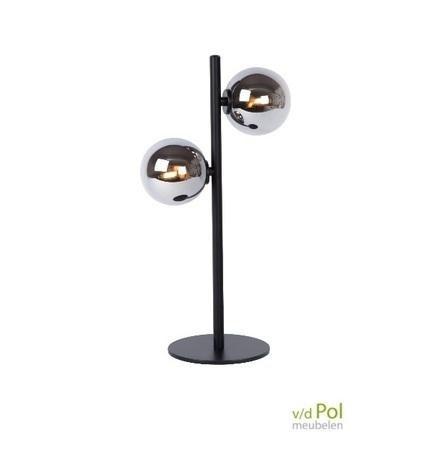 tafellamp-2-lichtbollen-zwart-bureaulamp-glasbol