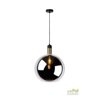 hanglamp-glazen-bol-zwart-gerookt-glas