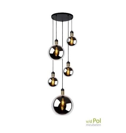 hanglamp-5-glazen-bollen-gerookt-glas