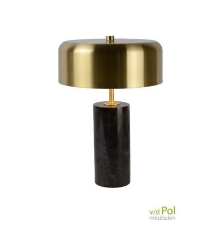tafellamp-zwart-marmer-messing-goud