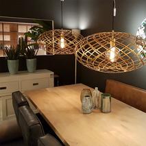 Luxe gouden hanglamp ovaal