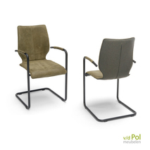 Lunette Brees New World - stoel met leuning zwart