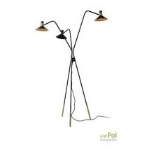 Vintage vloerlamp 3 staps dimmer