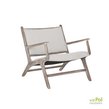 Must Living fauteuil Maxwell creme of grijs