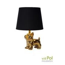 Tafellamp gouden hond