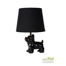 Tafellamp zwarte hond