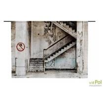 Wandkleed Urban Cotton Concrete Stairs