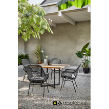 Applebee Zara Dining tuinset zwart