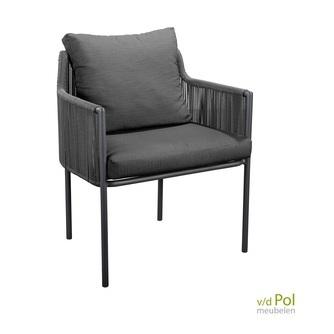 luxe-ronde-tuinstoel-rope-yoi-umi-grijs-zwart