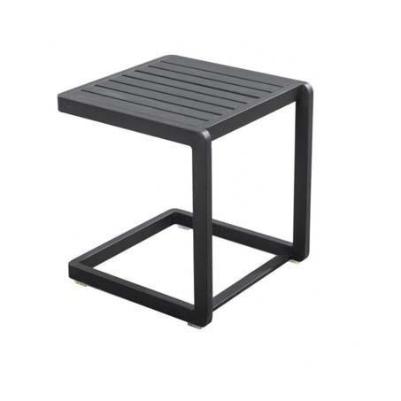 Yoi Hokan vierkant bijzettafeltje zwart aluminium voor buiten