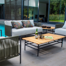 Yoi Umi loungebank tuin rond rope groen - grijs