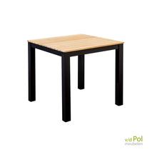 Yoi tuintafel Arashi vierkant zwart