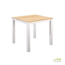 Vierkante tuintafel Yoi Arashi wit