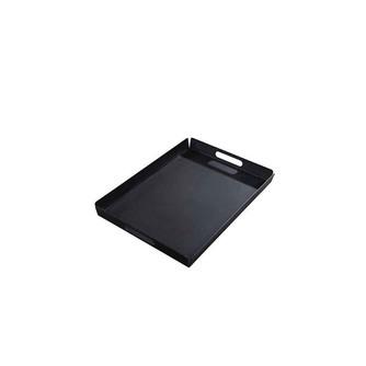 dienblad voor buiten yoi hokan 55-x-40-cm zwart aluminium met handvaten