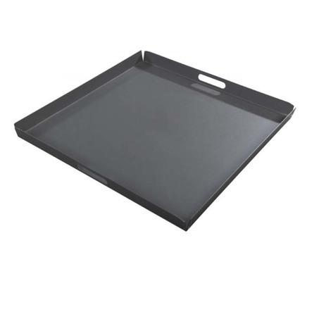 vierkant dienblad yoi hokan donkergrijs 70 x 70 cm aluminium