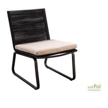 Kome loungestoel Yoi zwart-flax
