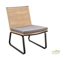 Kome loungestoel naturel/soil