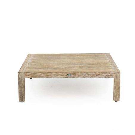 applebee olive lage vierkante loungetafel teak met kussen als voetenbank