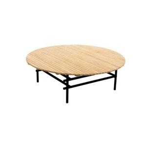 yoi ki grote ronde salontafel voor buiten van teak met 106 cm doorsnee