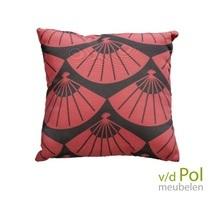Outdoor cushion Hand fan rood Yoi