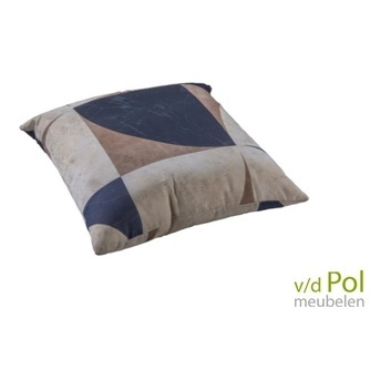 buitenkussen-abstract-sierkussen-outdoor-yoi-furniture-grijs-bruin-zwart-50 x 50 cm