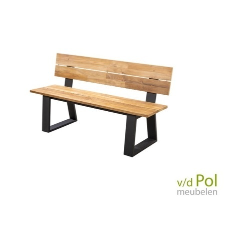 yoi-kaihou-tuinbankje-teak-rugleuning-150-175