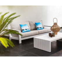 Grote 3-zits loungebank tuin wit - Yoi Ookii
