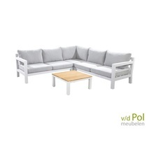 Hoek loungeset tuin wit - Midori - Yoi Furniture