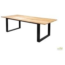 Kaihou table 240|300|350cm alu black/teak| Yoi tuintafels