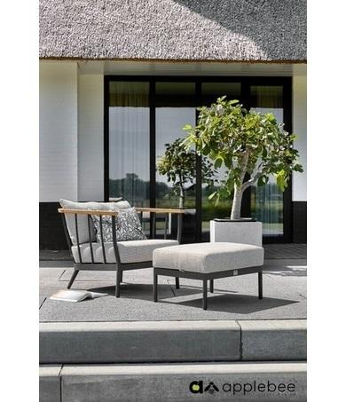 condor-loungestoel-footstool-applebee-zwart-aluminium-weerbestendig-kussen