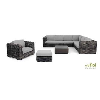 applebee elements xl loungeset wicker hoekset met voetenbank tuin