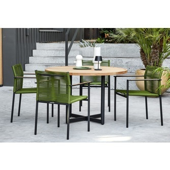 jakarta-tuinset-applebee-groen-ronde-tuintafel-olive-tuinstoelen-dining