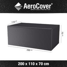 Aerocover rechthoekige beschermhoes tuintafel 200x110x70 cm