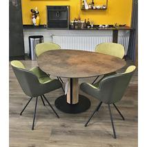 Eivormige tafel Steely - HPL Plastica brons