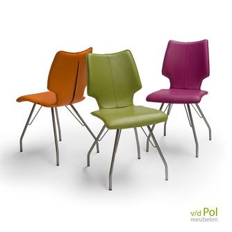 design-eetkamerstoel-zonder-leuning-rvs-leer-stof-diamond-II-F-brees-new-world