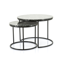 By Boo Romeo - zwart marmeren salontafel set
