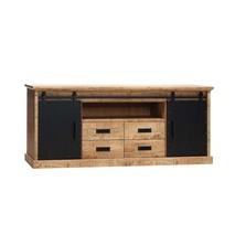 Industry - Lamulux hout met zwart tv meubel 210cm