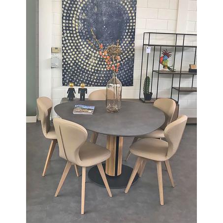 Design eettafel Steely in HPL Plastica agaat grijs van Brees New World
