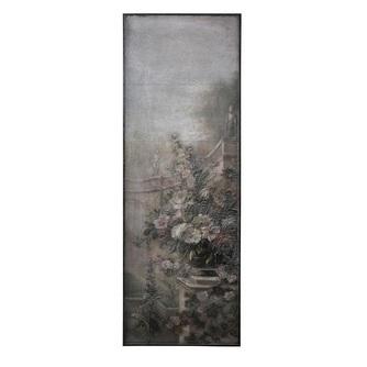 Ptmd houten wandpaneel met antieke en romantische bloemen schildering van Hidde Bruin 694074