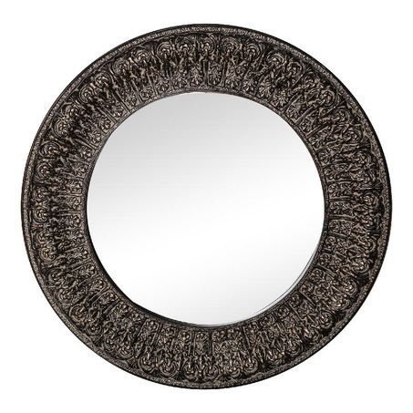 ptmd grote ronde spiegel zilveren rand Rosia PTMD